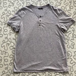 Vince Gray Button Front Tee